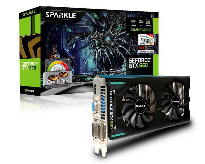 3 Sparkle NVIDIA GTX 660 Ti 2GB ( 192 Bit ) DDR5